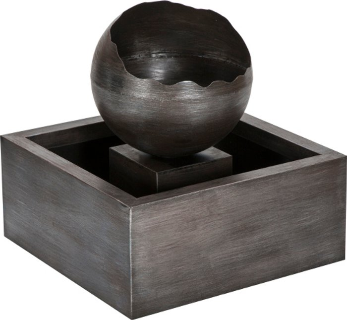 The Range Floating Sphere Water Feature - Charcoal