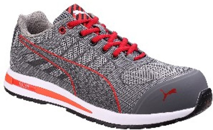 PUMA SAFETY Puma Safety Xelerate Knit Low Safety Trainer - Grey / 9