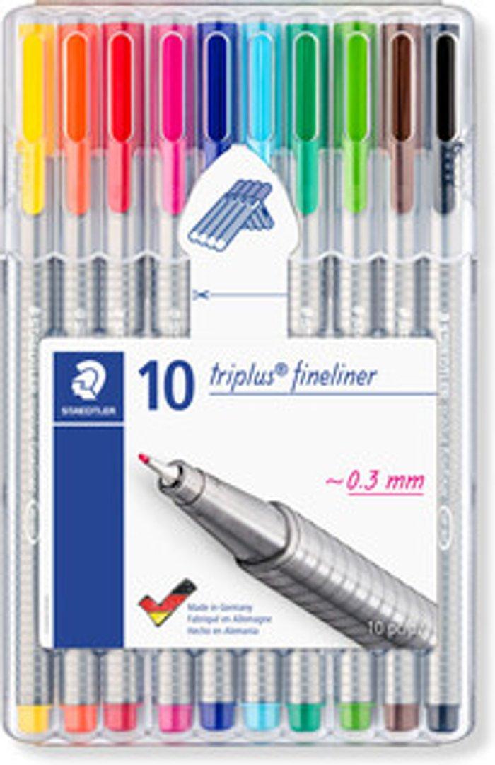 Staedtler Staedtler Triplus Brilliant Colour Fineliner Pens - 10