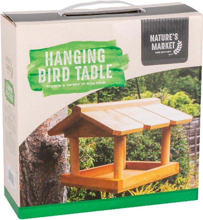 Nature's Market Kingfisher Hanging Bird Table
