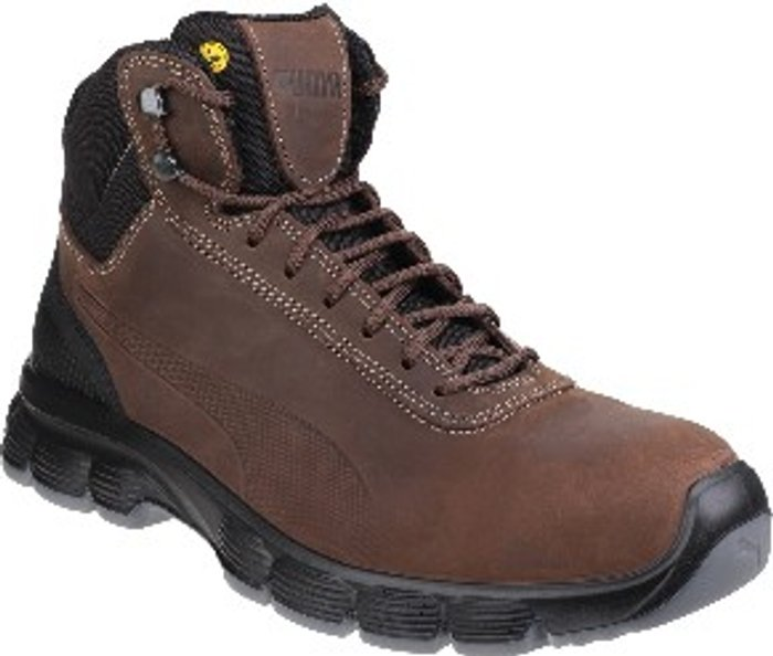 PUMA SAFETY Condor Mid Lace Up Safety Boots - Brown / 10