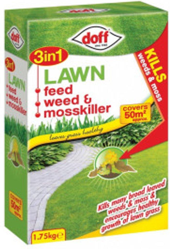 Doff Doff Lawn Feed Weed and Mosskiller