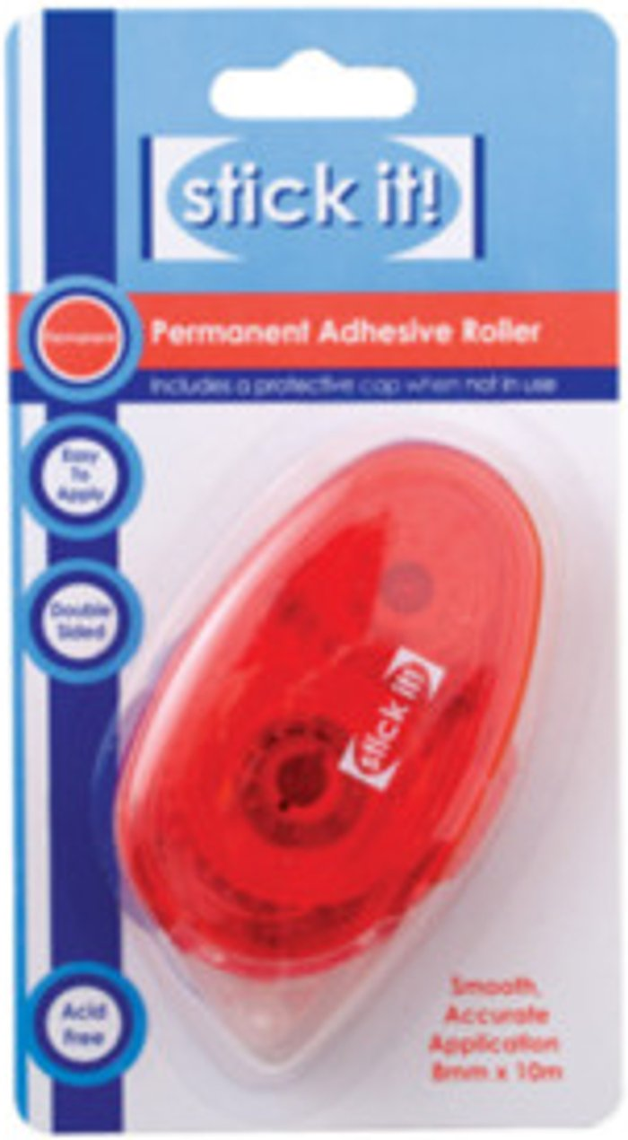 Stick It! Stick It Permanent Adhesive Roller - Red