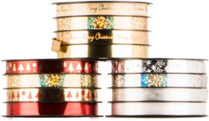 The Range Red/Gold/Silver Script Ribbon