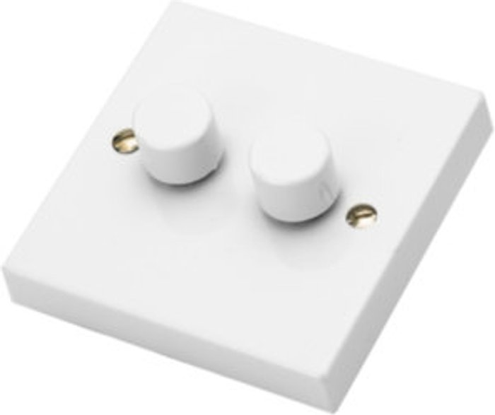 The Range 2 Gang 400W Dimmer Switch