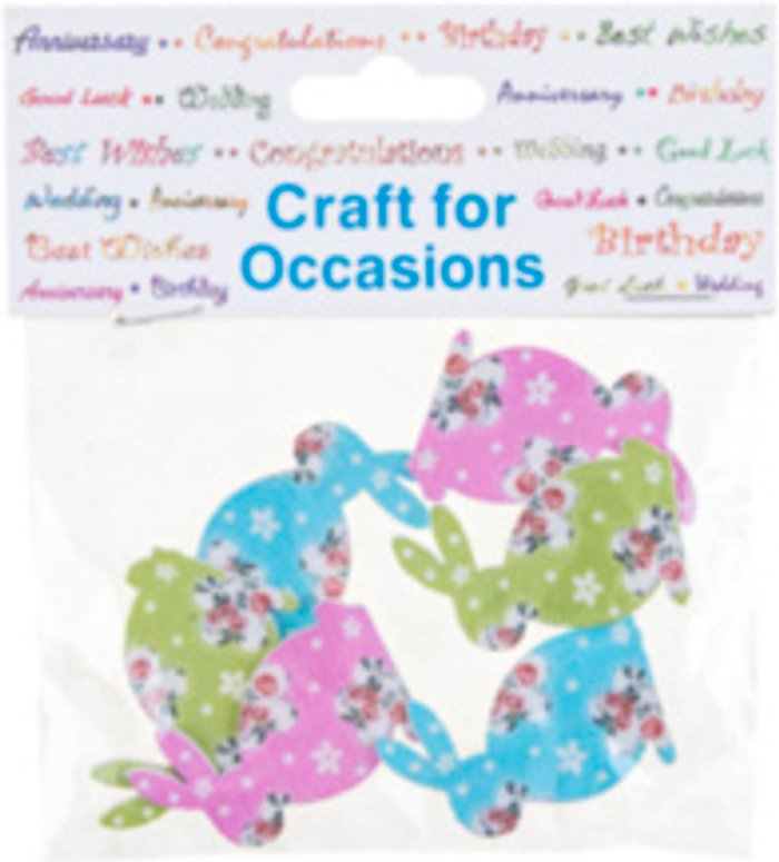 Trimits Craft For Occasions Floral Rabbit Toppers