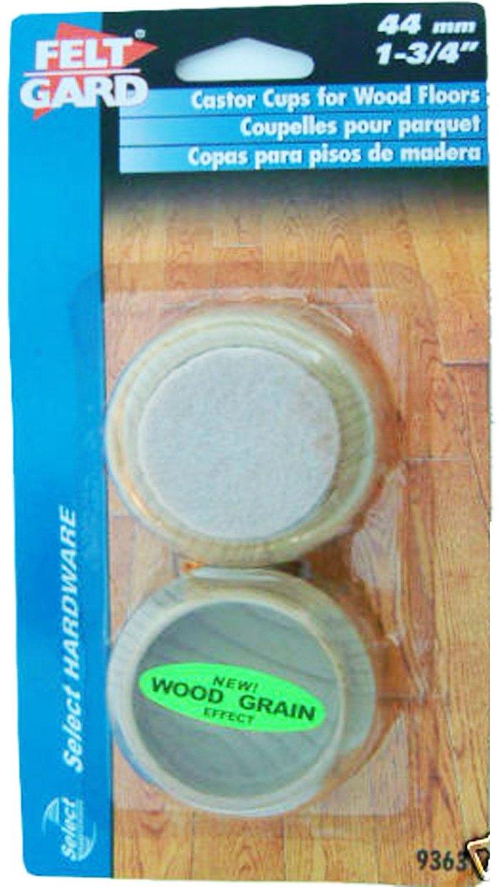 Select Hardware Select Hardware Feltgard Castor Cups Light Wood Grain 44mm