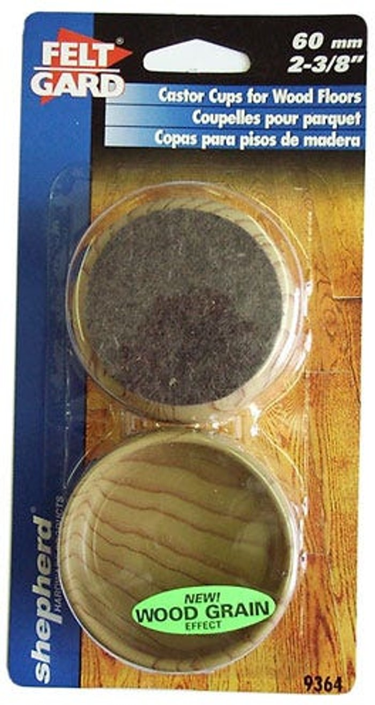Select Hardware Select Hardware Feltgard Castor Cups Light Wood Grain 60mm (2-3/8