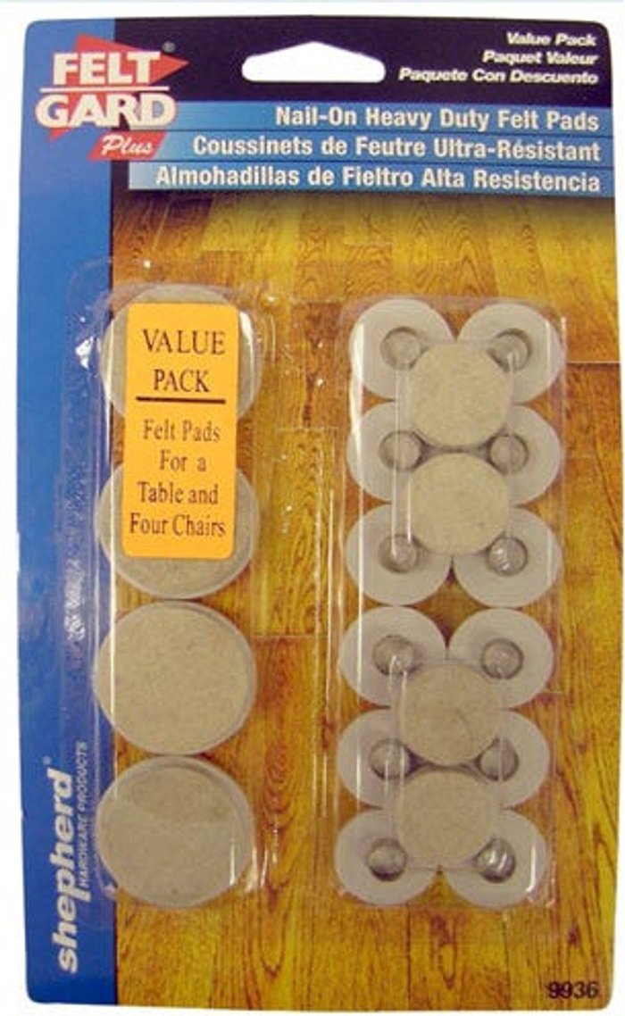 Select Hardware Select Hardware Nail-In Felt Pads Value Multipack (20 Pack)