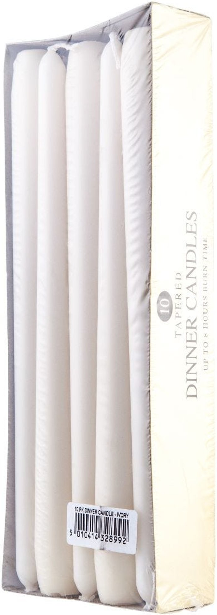 Price's Candles Price's Candles Prices Tapered Dinner Candles - Pack of 10, Ivory
