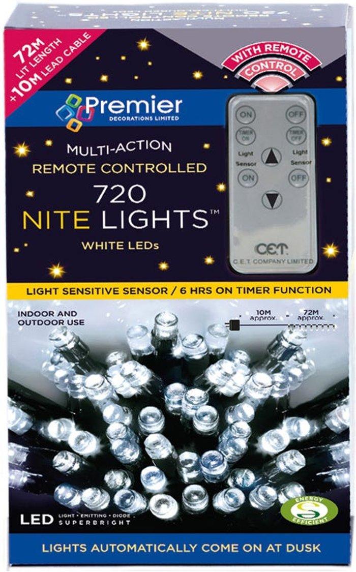 Premier Decorations Premier Decorations Premier 720 Remote Sensor Nite Lights - White