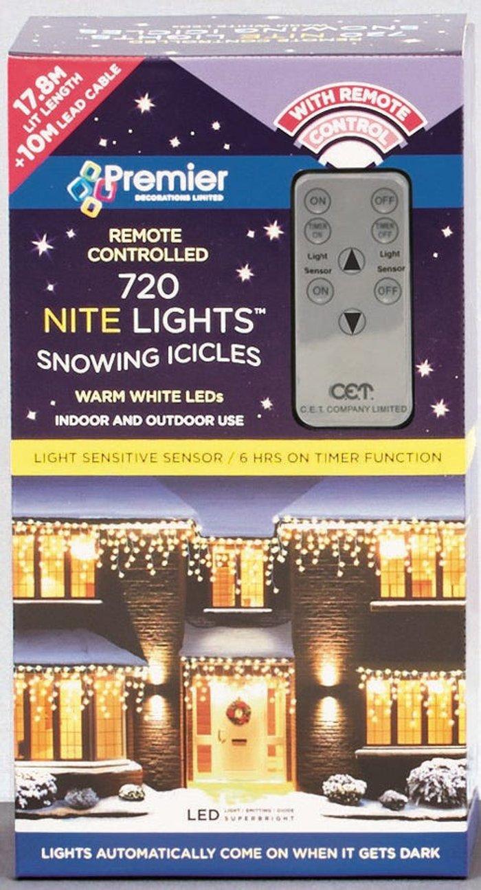 Premier Decorations Premier Decorations Premier 720 Remote Sensor Snow Icicles