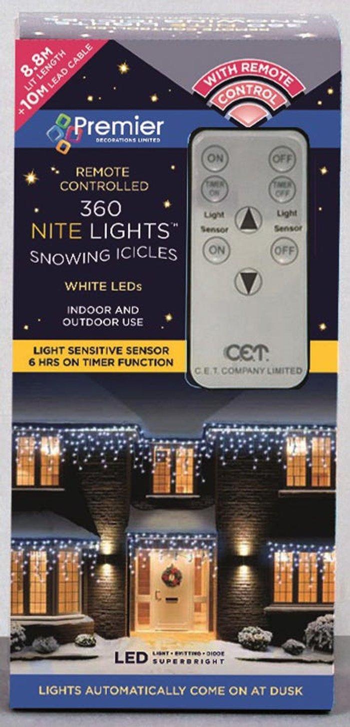 Premier Decorations Premier Decorations Premier 360 Remote Sensor Snow Icicles