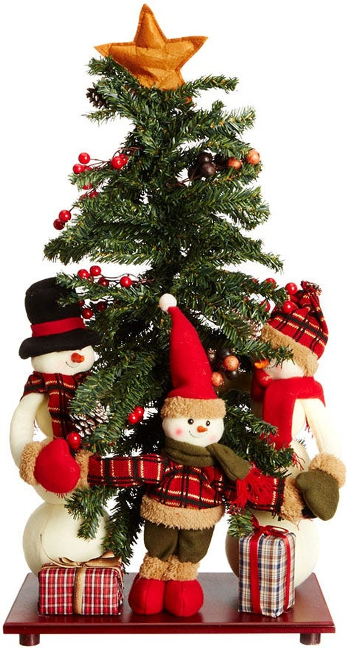 Free Free Standing 75cm Tall Christmas Tree Scene