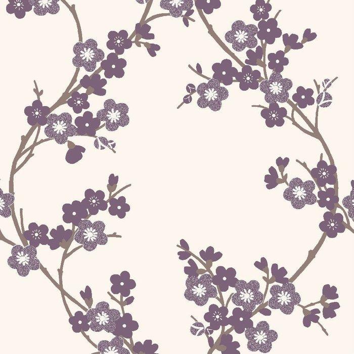 Graham & Brown Graham & Brown Super Fresco Cherry Blossom Wallpaper - Plum