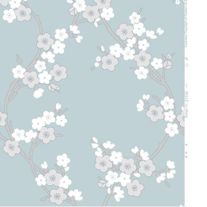 Graham & Brown Graham & Brown Super Fresco Cherry Blossom Wallpaper - Teal