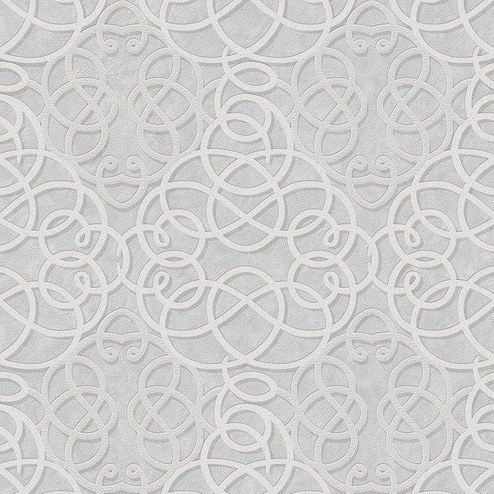 Graham & Brown Graham & Brown Boutique Ribbon Dance Wallpaper - Silver