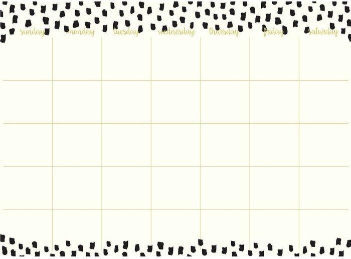 Fine Decor Fine Decor Fine Décor Luxe Dry-Erase Monthly Calendar Wall Decal