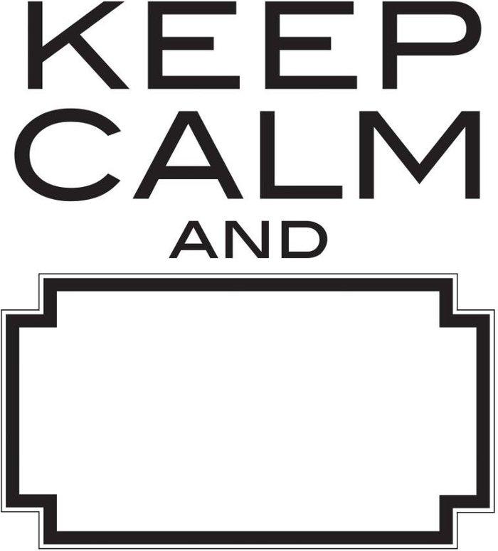 Fine Decor Fine Decor Fine Décor Dry-Erasable 'Keep Calm' Wall Decal