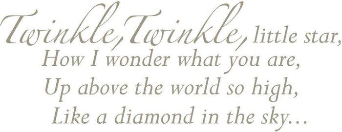 Fine Decor Fine Decor Fine Décor 'Twinkle Twinkle Little Star' Wall Decal