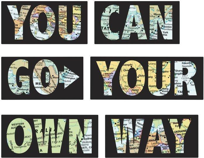 Fine Decor Fine Decor Fine Décor 'Go Your Own Way' Wall Quote