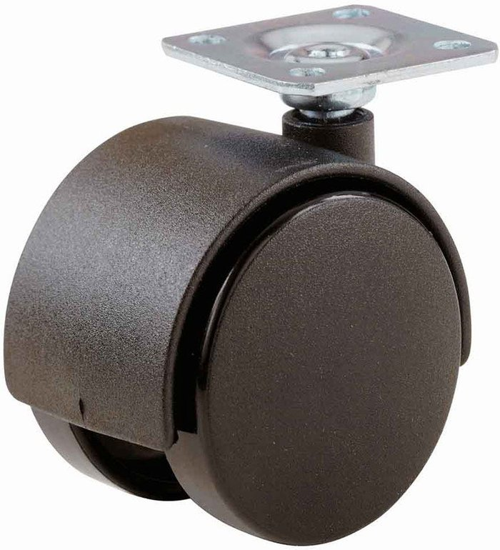 Select Hardware Select Hardware Pack of 2 Twin Wheel Plate Castors - 50mm