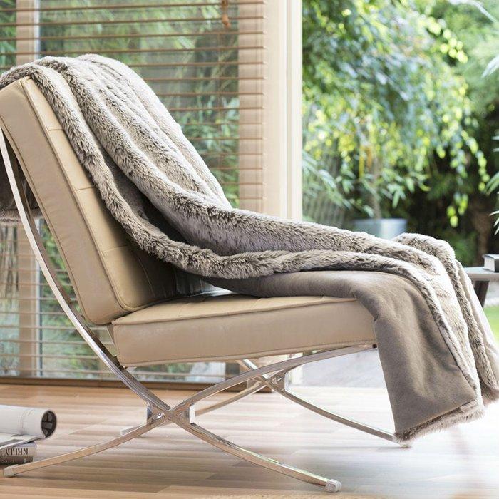 Deyongs Deyongs Huntley Super Soft Faux Fur Throw - Grey