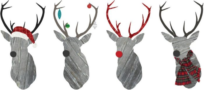 Fine Decor Fine Decor Wall Pops Large Reindeer Wall Sticker