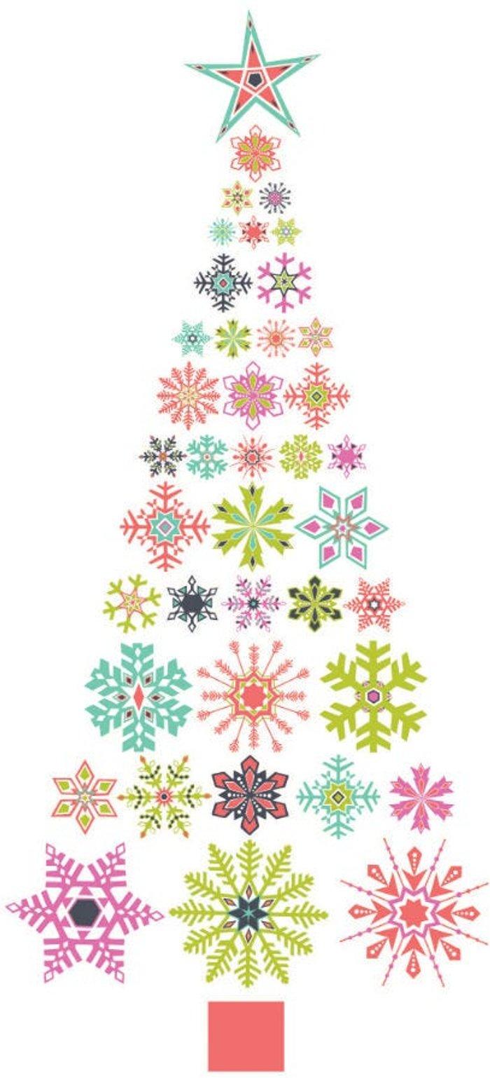 Fine Decor Fine Decor Wall Pops 'Snowflake Christmas Tree' Large Wall Sticker