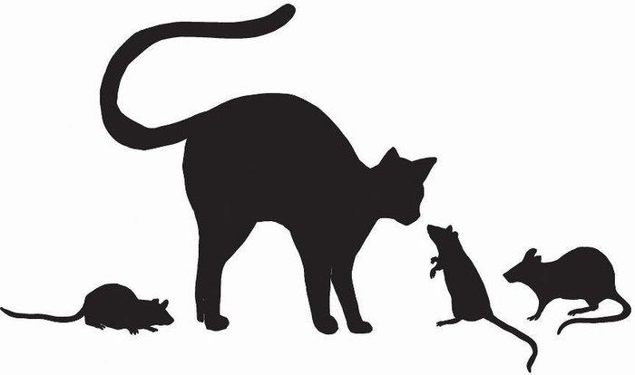 Wall Wall Pops Black Cat & Mice Wall Sticker