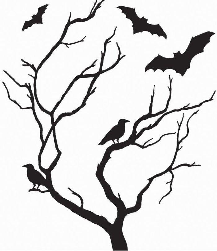 Wall Wall Pops Spooky Tree Halloween Wall Sticker