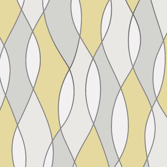 Fine Decor Fine Decor Fine Décor Wave Wallpaper - Yellow