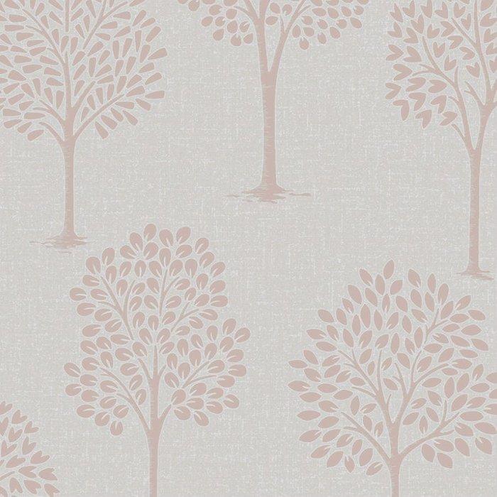 Fine Decor Fine Decor Fine Décor Quartz Tree Wallpaper - Rose Gold