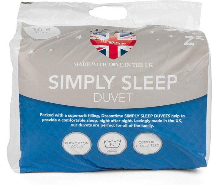 Dreamtime Dreamtime Simply Sleep 10.5 Tog Double Duvet - White