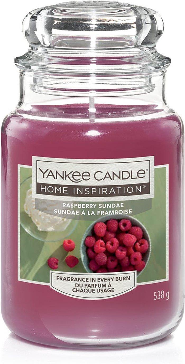 Yankee Yankee Candle Home Inspiration Raspberry Sundae Large Jar Candle