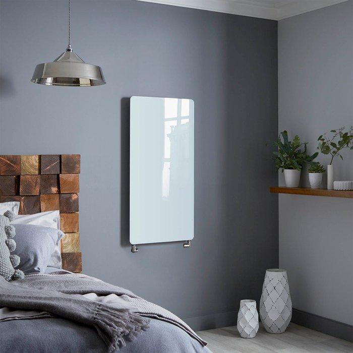 Towelrads Towelrads Vetro Frame 1000 X 500 mm Glass Radiator 1621B - White