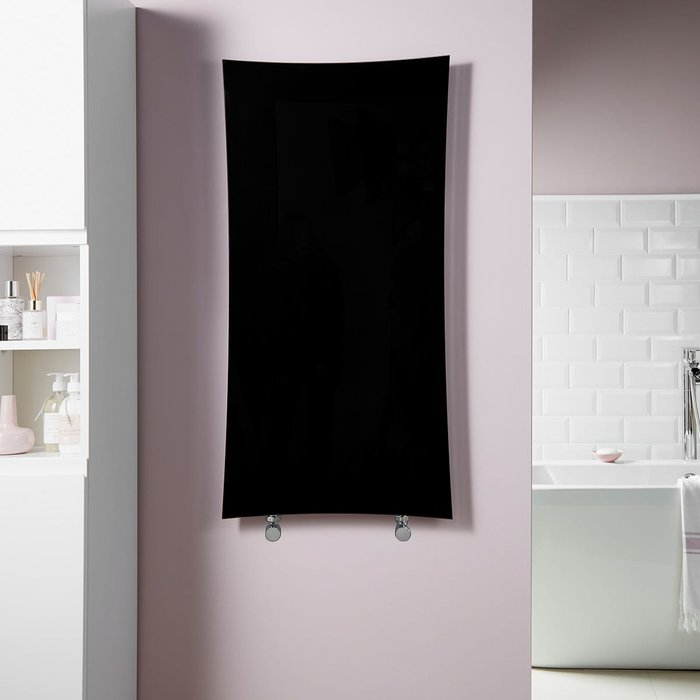 Towelrads Towelrads Vetro Star 1063 X 532 mm Glass Radiator 1604B - Black