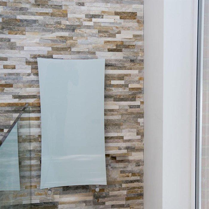 Towelrads Towelrads Vetro Star Electrical 1063 x 532 mm Glass Radiator 700W - White