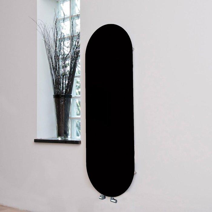 Towelrads Towelrads Vetro Soap 1380 x 500 mm Glass Radiator 1651B - Black