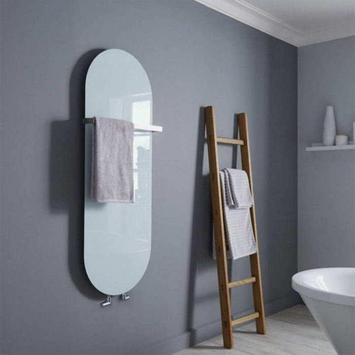 Towelrads Towelrads Vetro Soap Electrical 1380 x 500 mm Glass Radiator 700W - White