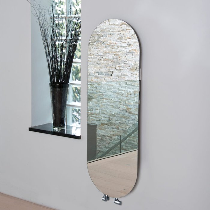 Towelrads Towelrads Vetro Soap 1380 x 500 mm Glass Radiator 1651B - Mirror