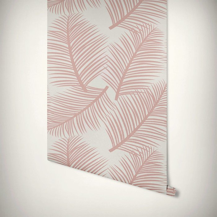 The Room Alive The Room Alive Palm Leaf Garden Blush Pink Wallpaper 52cm x 10m