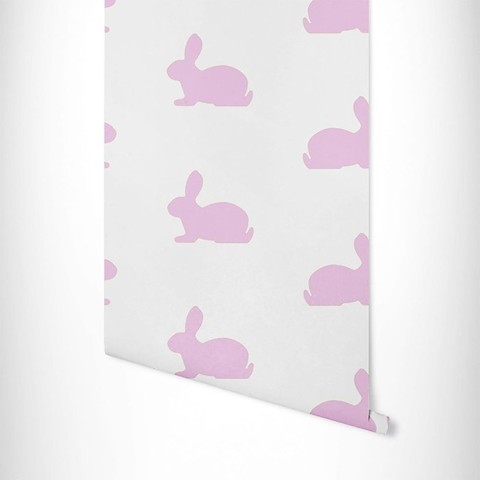 The Room Alive The Room Alive Bunnies Wallpaper in Pearlescent Pink 52cm x 10m Roll