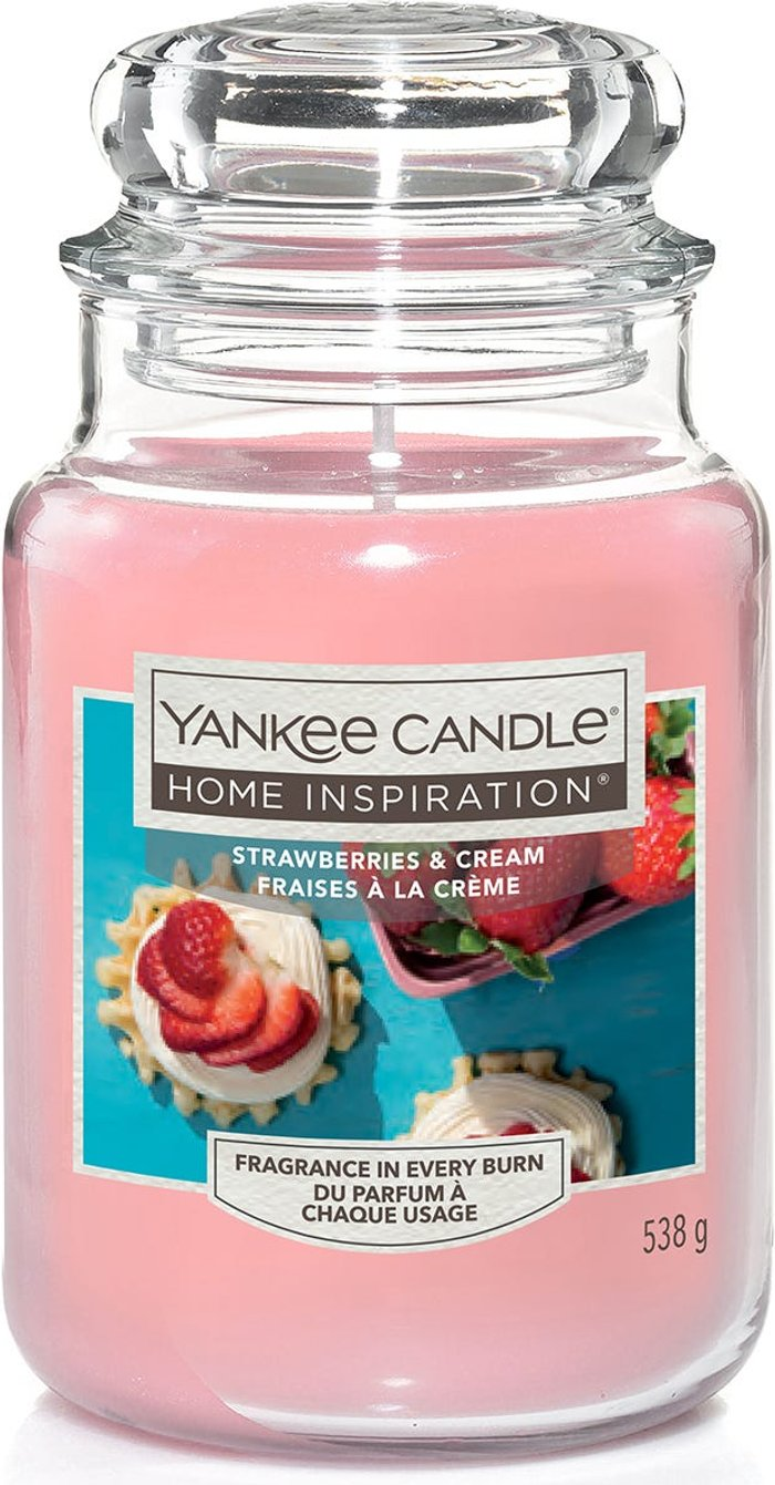 Yankee Yankee Candle Home Inspiration Strawberries & Cream Jar Candle