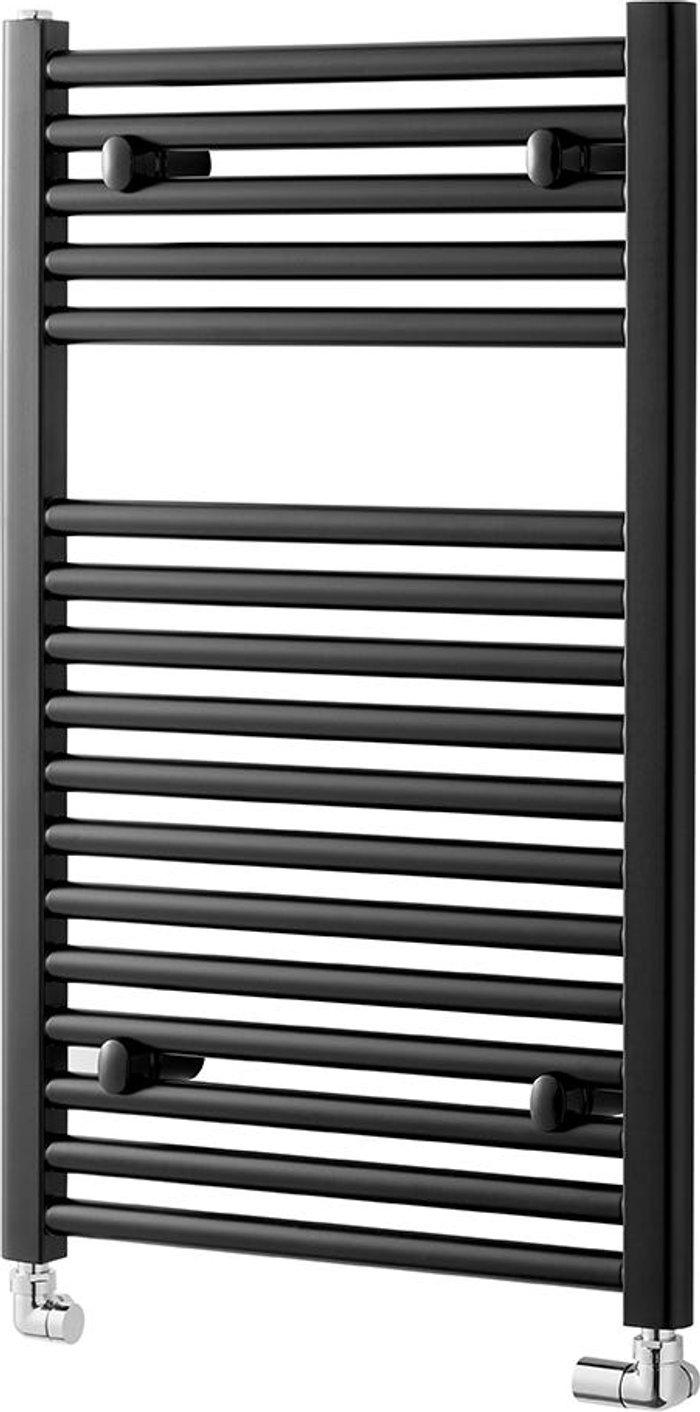 Towelrads Towelrads Pisa Straight Towel Rail Radiator - Black 800x500