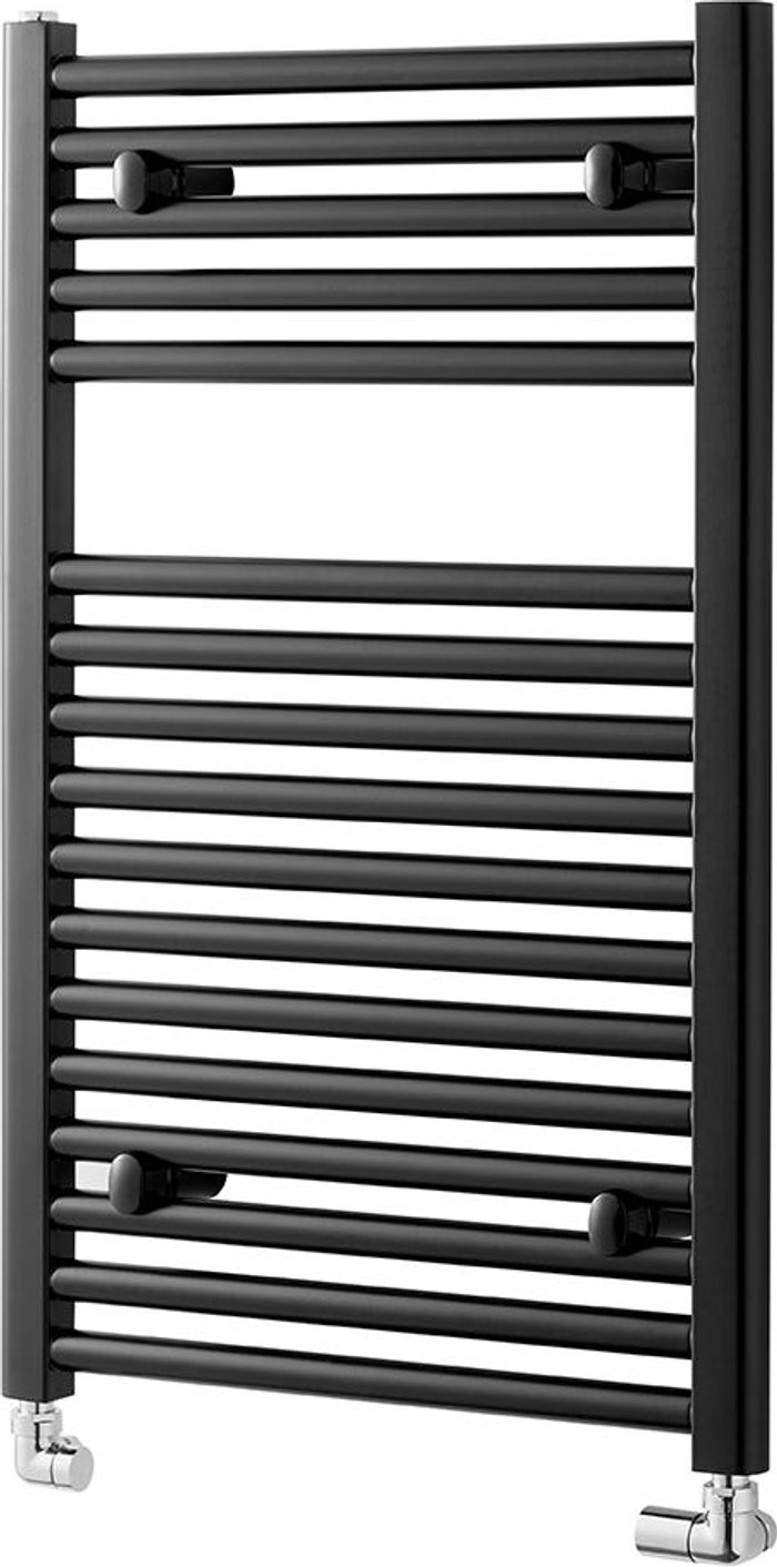 Towelrads Towelrads Pisa Straight Towel Rail Radiator - Black 1200x600