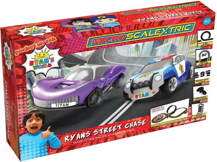 Scalextric Micro Scalextric Ryan's World Street Chase Battery Powered Race Set