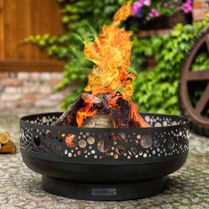 Cook King Boston Steel Decorative Fire Bowl Black