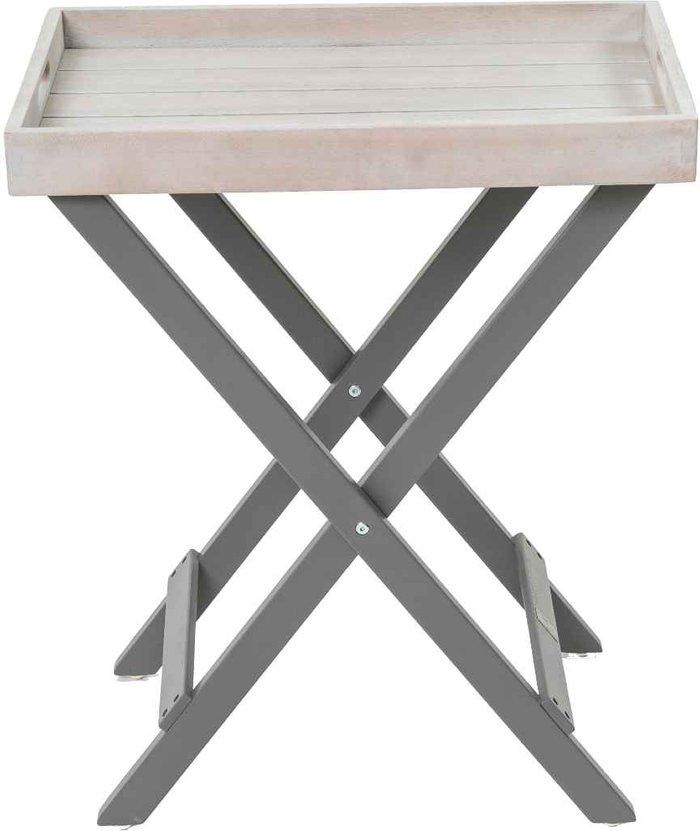 Florenity Florenity Grigio Grey Folding Butler Tray Grey