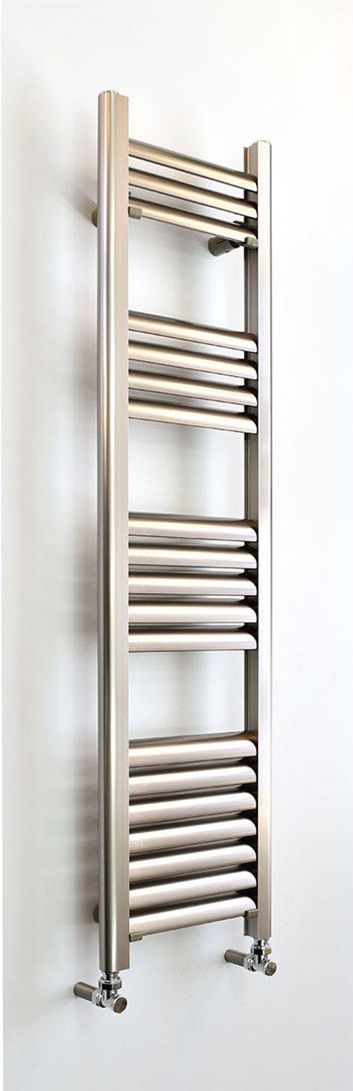 Towelrads Towelrads Accuro Korle Champagne 1200mm x 300mm Aluminium Towel Warmer - Brushed Aluminium